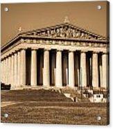 Parthenon In Sepia 3 Acrylic Print