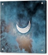 Partial Solar Eclipse In Cloud 1 Oct Acrylic Print