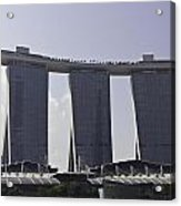 Partial View Of The Artscience Museum And The Marina Bay Sands Acrylic Print