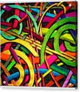 Particle Track Twenty Four Acrylic Print