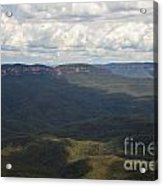 Partly Cloudy Day In The Blue Mountains Acrylic Print