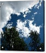 Partly Cloudy Forest Skies Acrylic Print
