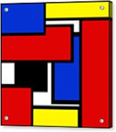 Partridge Family Abstract 1 C Square Acrylic Print