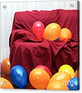 Party Balloons Acrylic Print