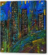 Party Town Acrylic Print