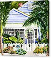Pass-a-grille Cottage Watercolor Acrylic Print