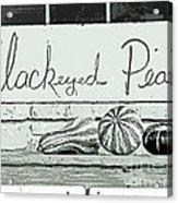 Pass The Peas Please Acrylic Print by Joe Jake Pratt