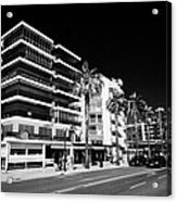 Passeig De Jaume 1 Seafront Road And Properties Salou Catalonia Spain Acrylic Print