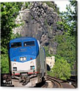 Passenger Train Locomotive Acrylic Print