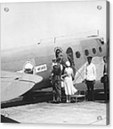 Passengers Boarding Airplane Acrylic Print