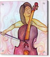 Passionate Cellist Acrylic Print