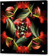 Passionate Love Bouquet Abstract Acrylic Print