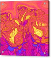 Passion's Petals Acrylic Print by Wendy J St Christopher