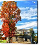 Past Its Prime I - A Barn In The Fall Acrylic Print