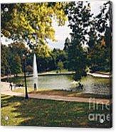 Past Time At Mirror Lake Acrylic Print