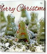 Pasta Christmas Trees With Text Acrylic Print