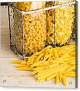 Pasta Shapes Still Life Acrylic Print by Edward Fielding