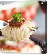 Pasta With Ingredients Acrylic Print