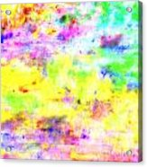 Pastel Abstract Patterns I Acrylic Print