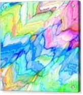 Pastel Abstract Patterns V Acrylic Print