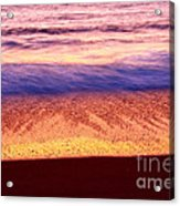 Pastel - Abstract Waves Rolling In During Sunset. Acrylic Print