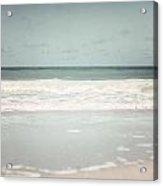 Pastel Beach Decor Of Gulf Of Mexico In Florida  Acrylic Print