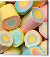 Pastel Colored Marshmallows Acrylic Print