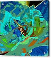 Pastel Dragonfly Rose Acrylic Print