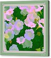 Pastel Flowers II Acrylic Print