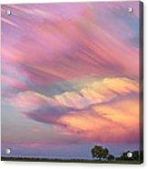 Pastel Painted Sunset Sky Acrylic Print