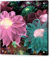 Pastel Posies Acrylic Print by Peggi Wolfe