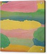 Pastel Rainbow Clouds Acrylic Print