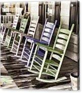 Pastel Rocking Chairs Acrylic Print