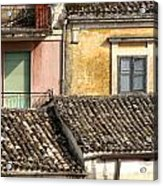 Pastel Roofscape Acrylic Print
