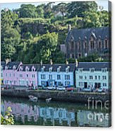 Pastel Rowhome In The Bay Highlands Scotland Acrylic Print