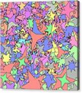 Pastel Stars Acrylic Print by Gregory Scott