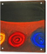 Pastel Three Color Galaxies And A Black Hole Acrylic Print