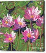 Pastel Water Lilies I  Acrylic Print