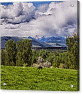 Pastures And Clouds  Acrylic Print