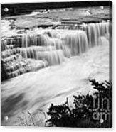 Patagonia Rio Glaciar Waterfall Acrylic Print