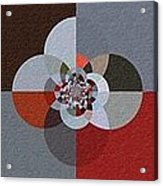 Patchwork Craze - Abstract - Triptych Acrylic Print