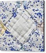Patchwork Quilt Acrylic Print by Tom Gowanlock