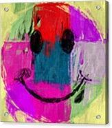 Patchwork Smiley Face Acrylic Print