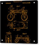 Patent Art 1920 Herzog Hobby Horse Gold Acrylic Print