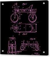 Patent Art 1920 Herzog Hobby Horse Pink Acrylic Print