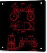 Patent Art 1920 Herzog Hobby Horse Red Acrylic Print