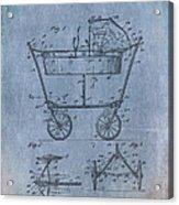 Patent Art Baby Carriage 1922 Mahr Denim Acrylic Print