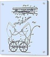 Patent Art Robinson Baby Carriage Blue Acrylic Print