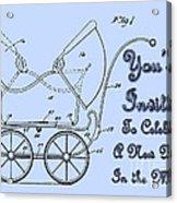 Patent Art Robinson Baby Carriage Invite-blue Acrylic Print