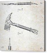 Patent - Fire Axe Acrylic Print